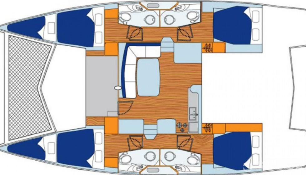 Rent Leopard 444 in French Polynesia - Sailica