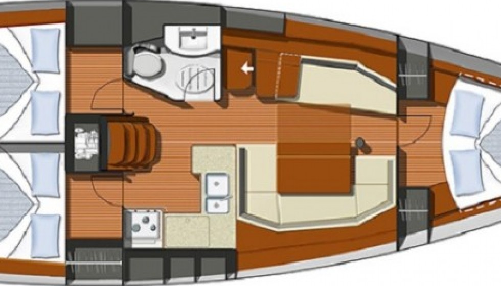 Rent Jeanneau 39 in Croatia - Sailica