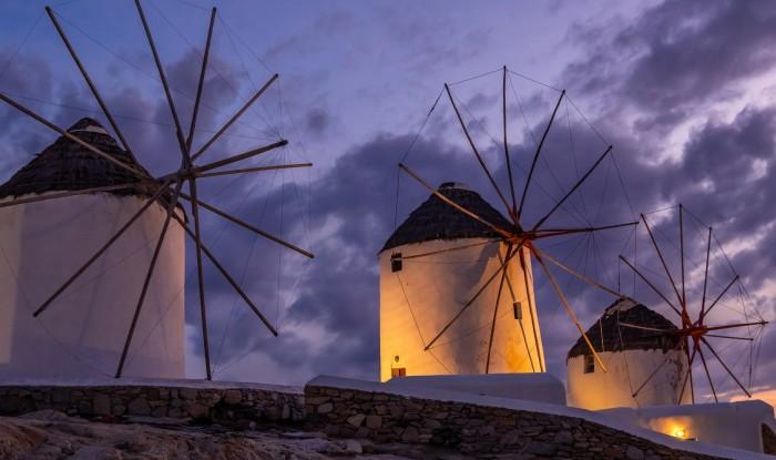 Закат на Миконосе