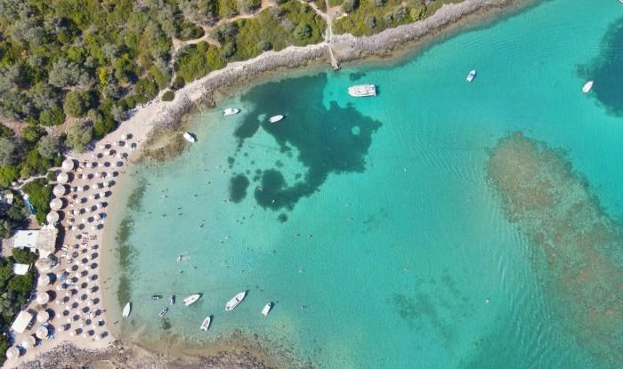 Рай сверху в Лихадонисии, Эвия, Греция.